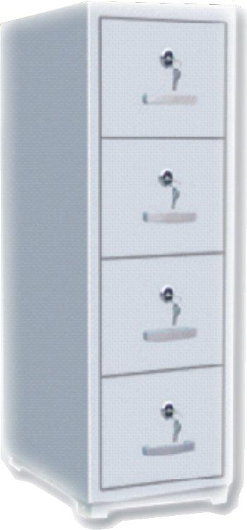 Soho Moscow 4 Drawer Fireproof Filing Cabinet Full