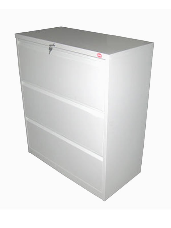 SOHO 3 Drawer Lateral Filing Cabinet 90w X 45d X 106h Cm