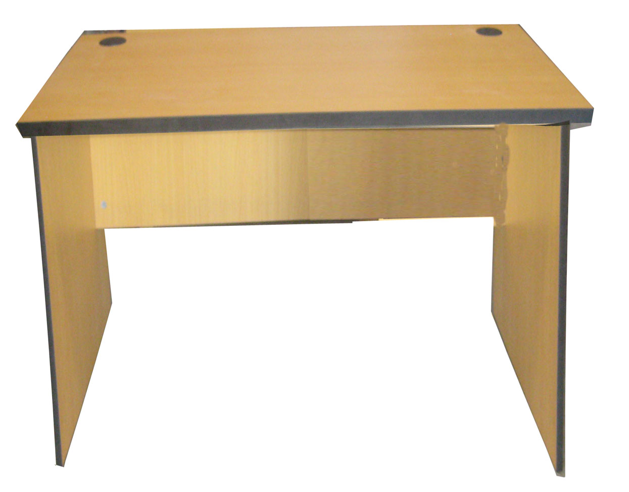 IRELAND Office Table w/out drawers, groumet, PVC edging