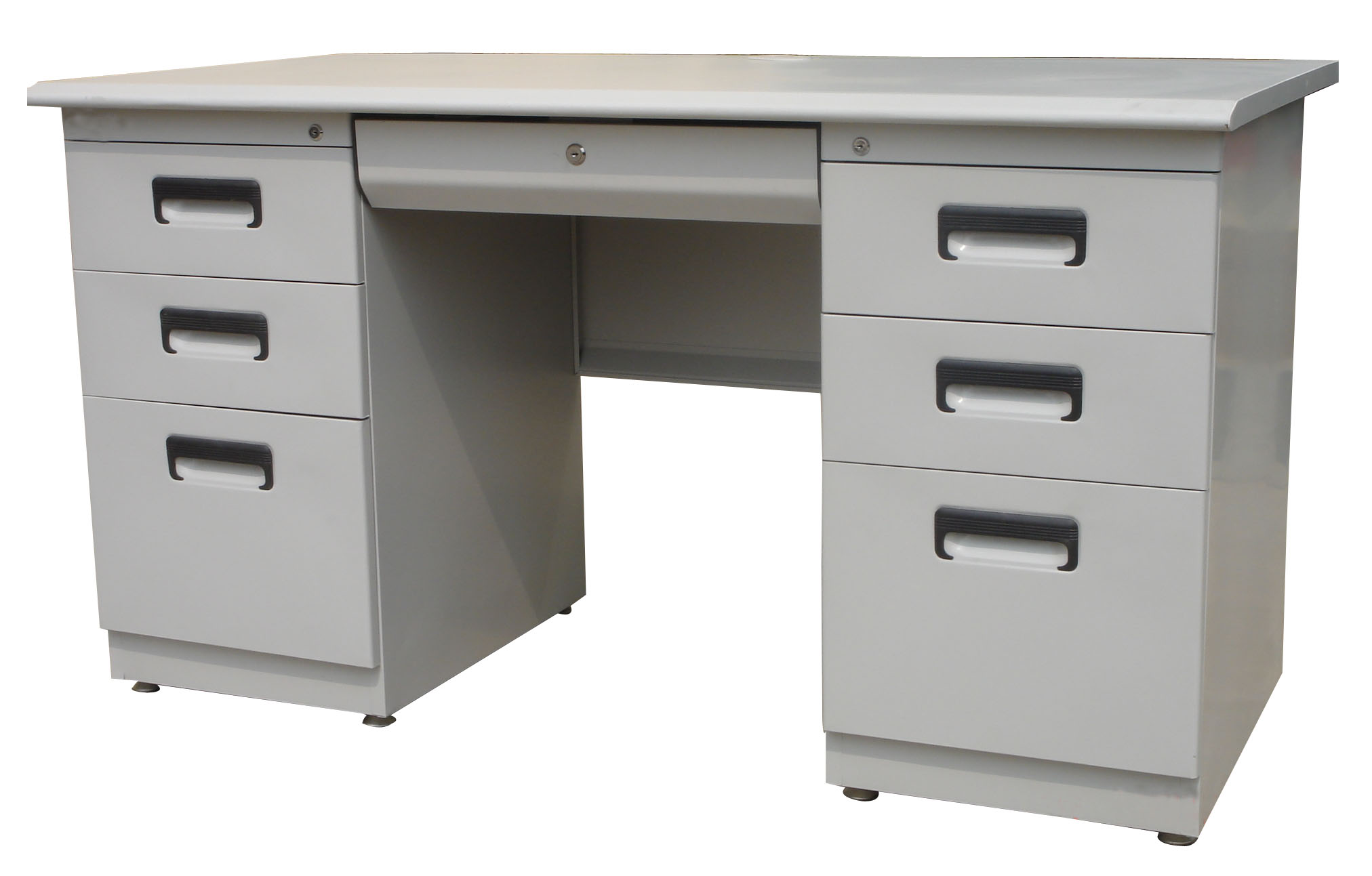 Soho GERMANY office desk steel frame laminated top w/ 6 drawers Colour